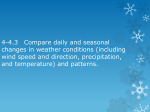 4-4.3 Compare daily and seasonal changes in weather conditions