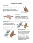 Right Hand Rule Study Sheet