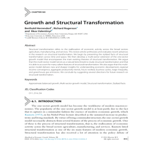 Growth and Structural Transformation