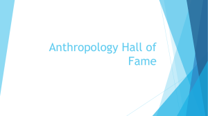 Anthropology Hall of Fame