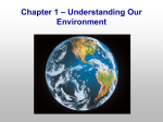 Chapter 1 – Understanding Our Environment