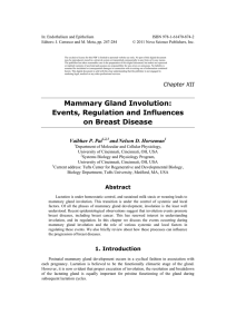Mammary Gland Involution: Events, Regulation and
