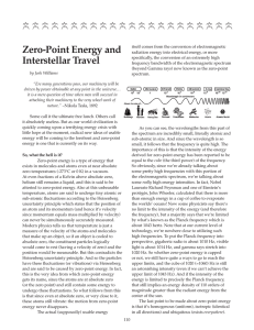 Zero-Point Energy and Interstellar Travel