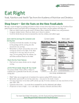Get the Facts on Food Labels - Academy of Nutrition and Dietetics