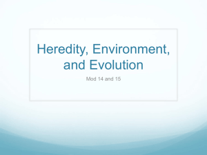 Heredity, Environment, and Evolution
