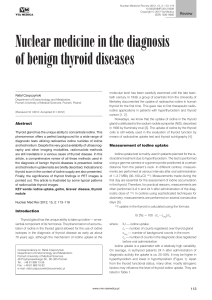 Nuclear medicine in the diagnosis of benign thyroid diseases