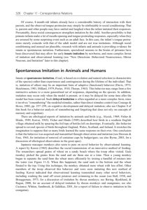 Spontaneous Imitation in Animals and Humans