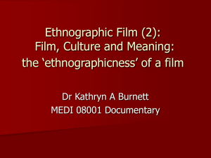 """ethnographic film""?"