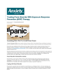 Treating Panic Disorder With Exposure Response Prevention (ER/P
