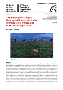 The Serengeti strategy: How special interests try to intimidate