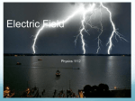 Electric Fields - Kennesaw State University | College of Science and