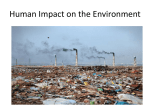 How are we affecting the environment?