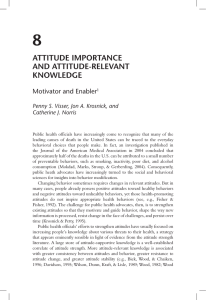 attituDE iMPortaNcE aND attituDE-rElEVaNt KNoWlEDgE