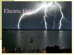 Electric field = force per charge