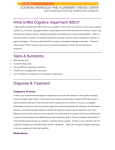 What is Mild Cognitive Impairment (MCI)?