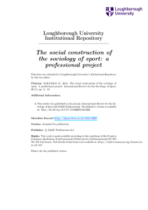 The social construction of the sociology of sport: a professional project