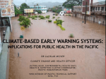 Climate-based early warning systems: implications for public health