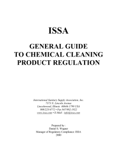 general guide to chemical cleaning product regulation