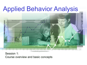 Basic concepts of applied behaviour analysis