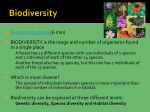 Unit 3: Evolution, Biodiversity, Climate, Weather, and Biomes