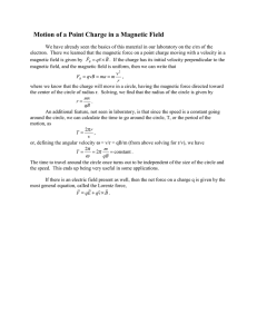 Motion of a Point Charge in a Magnetic Field