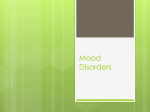 Mood Disorders - High Plains Educational Cooperative