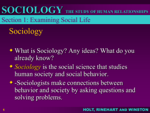 MR. Padron`s Sociology