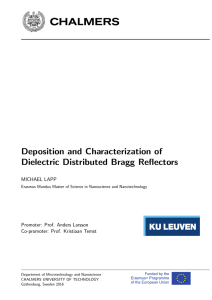 Deposition and Characterization of Dielectric Distributed Bragg