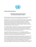 UNITED NATIONS PRESS RELEASE United Nations Secretary