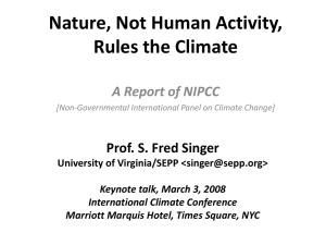 Nature, Not Human Activity, Rules the Climate A Report of NIPCC