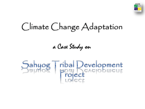 Climate Change Adaptation a Case Study on Sahyog Tribal