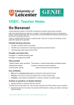 VGEC: Teacher Notes Go Bananas!