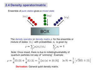 2.4 Density operator/matrix