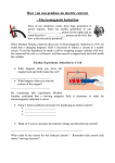 How you can produce an electric current