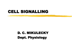 cell signalling - people.vcu.edu