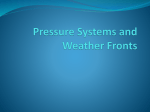 Pressure Systems and Fronts
