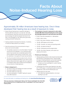 Facts About Noise-Induced Hearing Loss