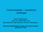 Cardiomyopathy – anaesthetic challenges MGMC