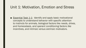 Unit 1: Motivation, Emotion and Stress - Ms. Anderson