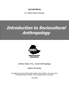 Introduction to Sociocultural Anthropology