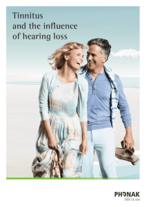 Tinnitus and the influence of hearing loss