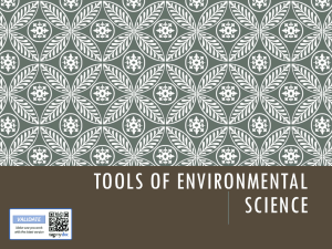 Tools of Environmental Science c 2