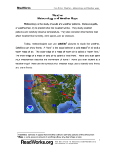 Weather Meteorology and Weather Maps