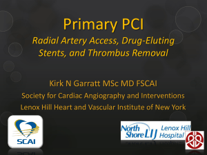 Primary PCI - Society for Cardiovascular Angiography and