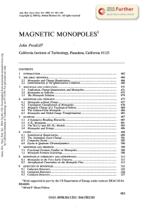 Magnetic Monopoles - Caltech Particle Theory