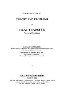 SCHAUM`S OUTLINE OF THEORY AND PROBLEMS OF HEAT