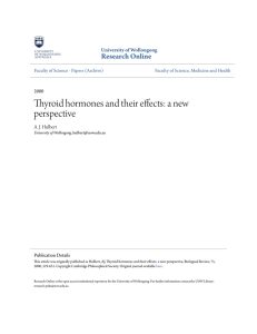 Thyroid hormones and their effects: a new