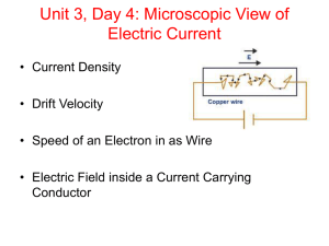 Unit 3, Day 4: Microscopic View of Electric Current