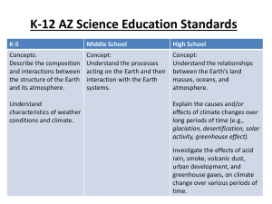 K-12 Science Education Standards
