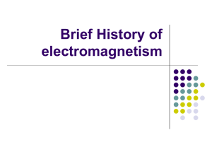 Brief History of electromagnetism Contents
